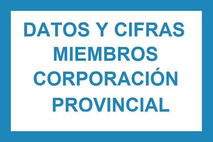 Datos y cifras Miembros Corporación Provincial