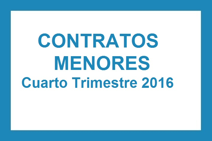 Contratos Menores Tercer Trimestre 2016