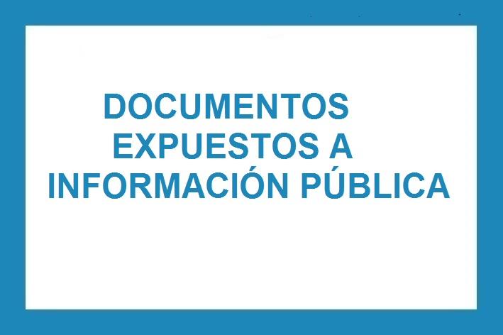 Documentos expuestos a información pública