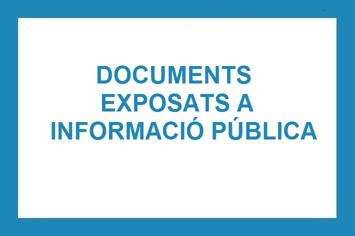 Documents Exposats a Informació Pública